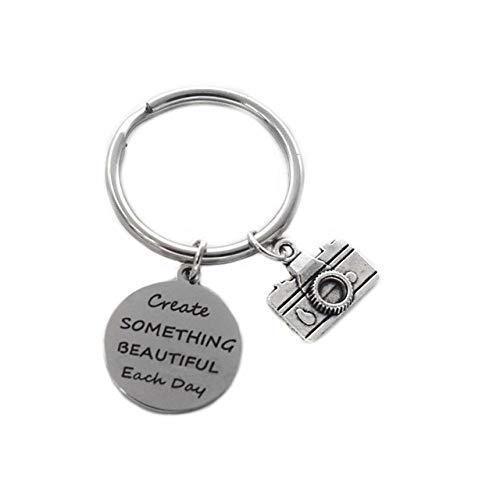 Bobvc sleutelhanger alles goed voor verjaardag naaimachine camera kunst-borstel-charme-sleutelring-houder Creëer iets mooi, elke daggeschenk-sleutelketting