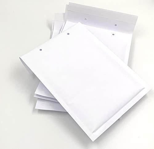 Luftpolster-Versandtaschen, Luftpolsterumschläge, 225 x 170 mm, C5, weiß, mit Abziehstreifen (25)