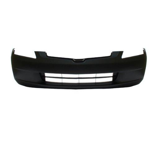 CarPartsDepot Raw Black Plastic Front Bumper Cover Assembly, 352-20128-10-BK HO1000210