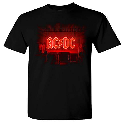AC/DC Power Up Cover - Organic Herren-Shirt - Nachhaltig - ACDC Shirt - Power Up Fan-Shirt - 100% Baumwolle - Langlebig und robust - Backprint - Schwarz - XL