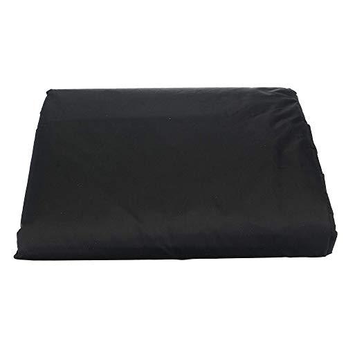 U/A cubierta de polvo de billar mesa de billar cubierta de polvo negro plata muebles impermeable cubierta 7/8/9 pies