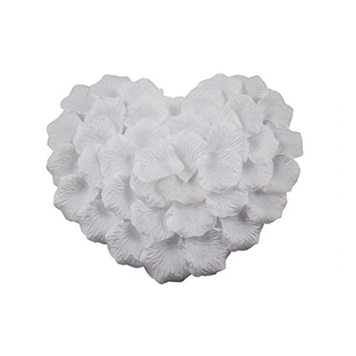 Ibely 2000 Pieces Silk Rose Petals Artificial Flower Petals for Wedding Confetti Flower Girl Bridal Shower Hotel Home Party Valentine Day Flower Decoration
