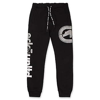Men s Sweatpants by ECKO - Fleece Mens Joggers Sweatpants with Pockets Jet Black Medium