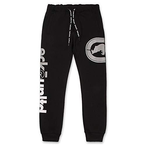Men's Sweatpants by ECKO - Fleece Mens Joggers Sweatpants with Pockets Jet Black Medium