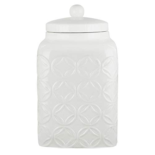 American Atelier Canister Ceramic Chic Design with Lid for Cookies, Candy, Coffee, Flour, Sugar, Rice, Pasta, Cereal & More