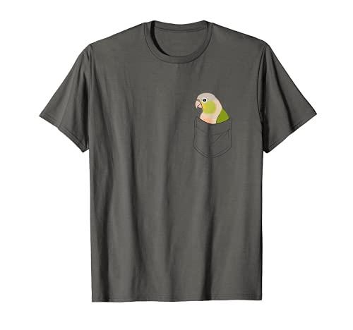 Bolsillo Piña Conure Canela Loro Lindo Birb memes Camiseta