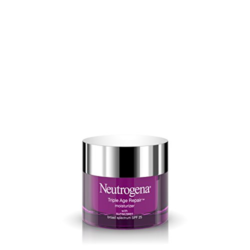 Price comparison product image Neutrogena Triple Age Repair Anti-Aging Face Moisturizer with SPF 25 Sunscreen & Vitamin C,  Dark Spot Remover & Firming Face & Neck Cream with Glycerin & Shea Butter,  1.7 oz