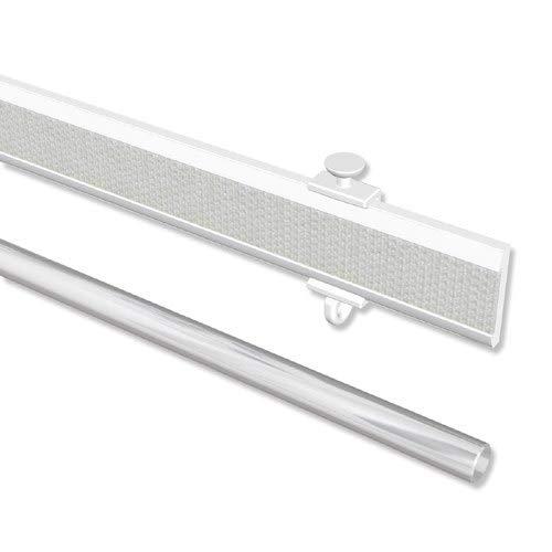 INTERDECO Paneelwagen Weiß aus Aluminium mit Klettband kürzbar für Gardinenschienen, Universal Easyslide, 60 cm