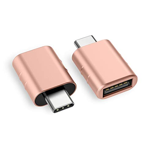 Syntech USB C auf USB Adapter[2 Stücke], Thunderbolt 3 to USB 3.0 Adapter Kompatibel mit MacBook Pro 2019, MacBook Air 2019/2018, Dell XPS - Roségold