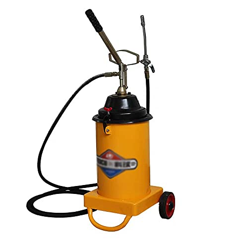 Kangl High Pressure Grease Pump,Hand Press Operated Grease Coupler Included,¼-inch,no Mess,no Waste,Portable-Industrial Strength Construction,8m Flex Hose,Grease Gun,for Factory Mechanical