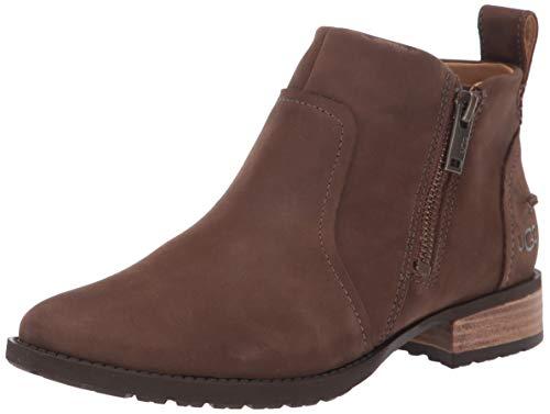 UGG Women's AUREO II Ankle Boot, Pinewood Leather, 6 M US