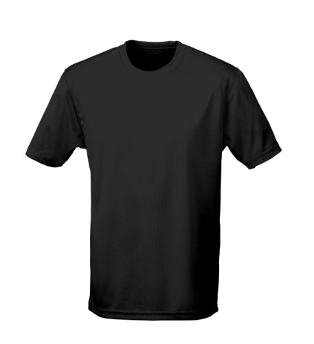 Just Cool Performance T-Shirt, atmungsaktiv, schwarz, Gr.5XL
