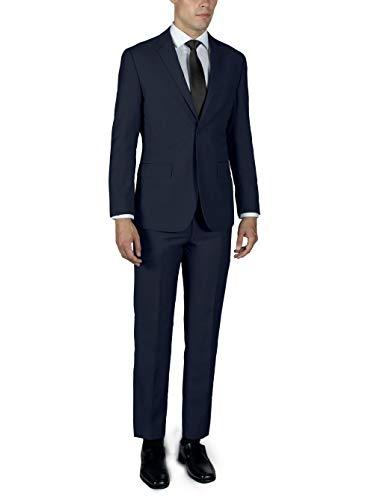 ALAIN DUPETIT Men's Two Button Slim or Regular Fit Suit in Many Colors (Navy Blue, 40 Regular (Slim) / 34 Waist)