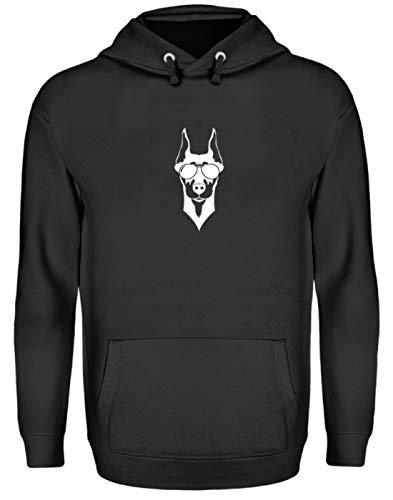 Generic Cooler Dobermann Mit Sonnebrille Hund Rasse Wachhund - Schlichtes Und Witziges Design - Unisex Kapuzenpullover Hoodie