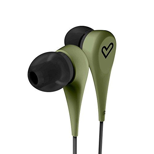 Energy Sistem Style 1 - Auriculares intrauditivos (cómodos y Ligeros, Acabado Rubber, Cable con diseño Plano de 120 cm) Color Verde