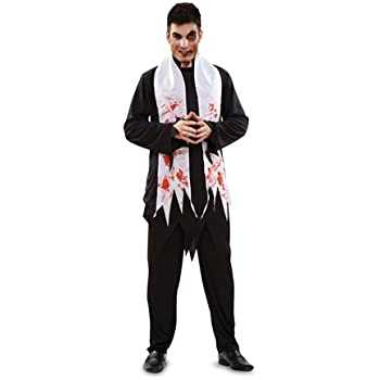 Disfraz de Cura Zombie para Halloween de hombre talla M-L: Amazon ...