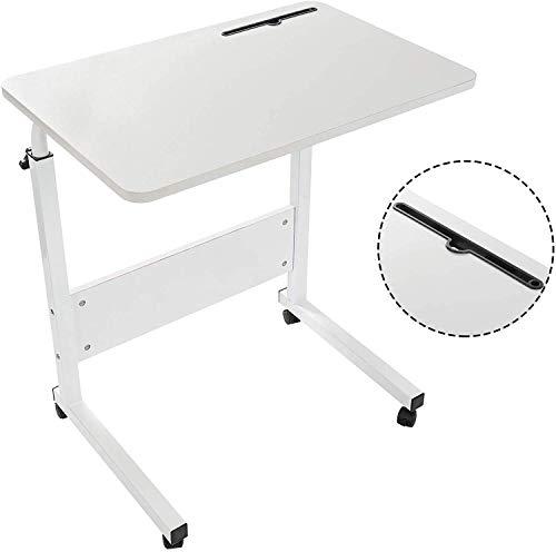 GRANDMA SHARK Laptop Table for Sofa/Bed, Laptop Desk, Standing Height Adjustable Computer Desk, Portable Side Table, Bed Table, Sofa Table (White)