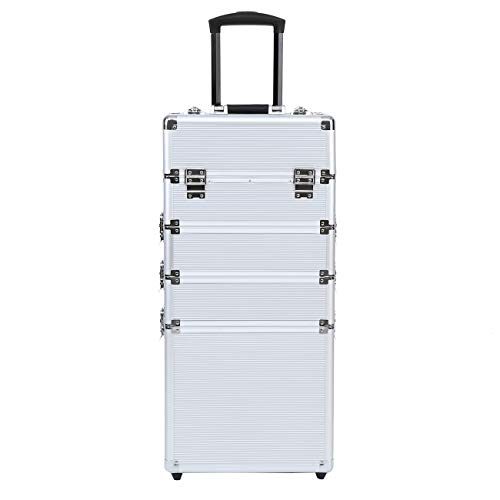 MuGuang 5 in 1 Beauty Case da viaggio Cofanetto Trucco trolley make up case beauty case