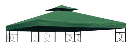 Spetebo Pavillon Ersatzdach 3x3 Meter - grün - wasserdicht/Kaminabzug - Pavillondach