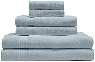 Elite Home Products 100% Organic Cotton Towel 6-Piece Set