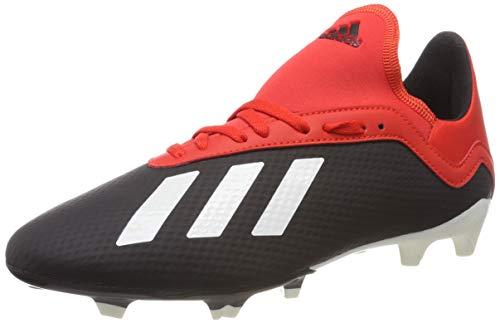 adidas X 18.3 Fg J, Scarpe da Calcio Uomo, Nero (Core Black/off White/Grey Four F17 Core Black/off White/Grey Four F17), 38 2/3 EU