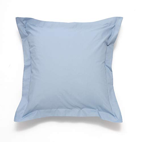 Sancarlos Básicos, Funda de cojín Lisa Cuadrante, Algodón 100%, Color Azul, Tamaño 60x60 cm