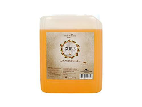 Rubis Cosmetics, 5 Liter Arganöl Duschgel Nachfüllpack im Kanister, auch geeignet für Hamam Schaummassage