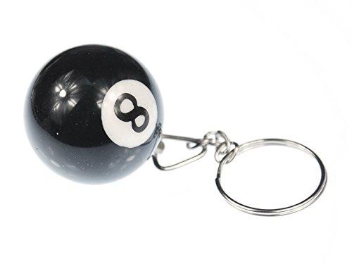 Miniblings Billardkugel Schlüsselanhänger Schlüsselring Billard Schwarz 8