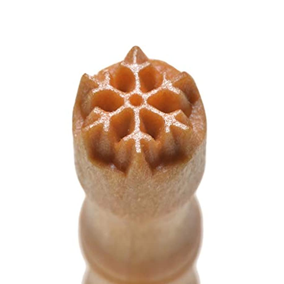 MKM Pottery Tools Stamps 4 Clay Mini Round Decorative Stamp for Clay (Smr-064 Snowflake 1)