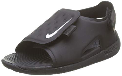 Nike Kids Baby Boy's Sunray Adjust 5 (Infant/Toddler) Black/White 3 Infant