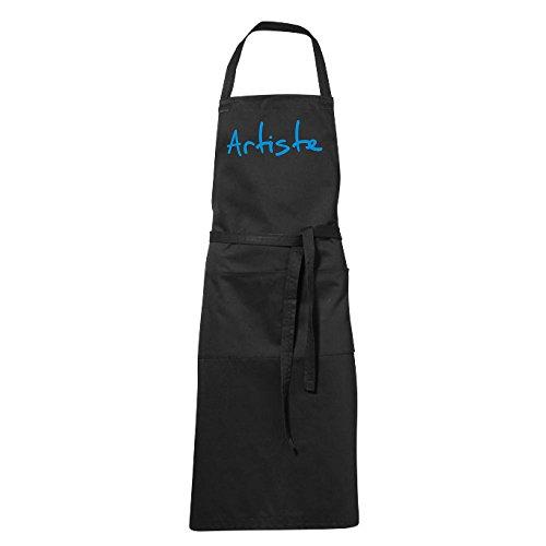 stylx design Tablier humoristique de cuisine noir Artiste