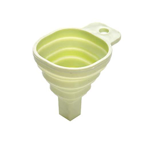 Tree-es-Life Embudo Plegable pequeño Embudo cónico retráctil dispensador de líquido de Cocina Herramientas para Hornear de Grado alimenticio para el hogar - Verde