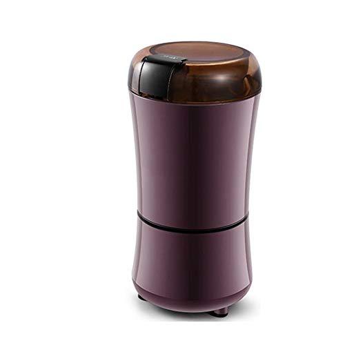 QHAI Elektrische Kaffeemühle, Bohnen Gewürze Nüsse Schleifmaschine mit Spice Nüsse Samen Kaffeebohne Grinder Maschine,Braun
