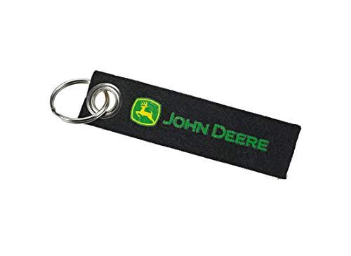 JOHN DEERE Filz Schlüsselanhänger mit Logo Schwarz