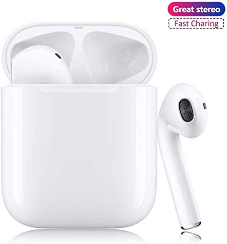 Auriculares Bluetooth 5.0 Auriculares Bluetooth Inalámbrico 24h Stereo 3D in Ear con Mic, IPX5 Resistentes al Agua Compatible con Apple Airpods/Android/iPhone