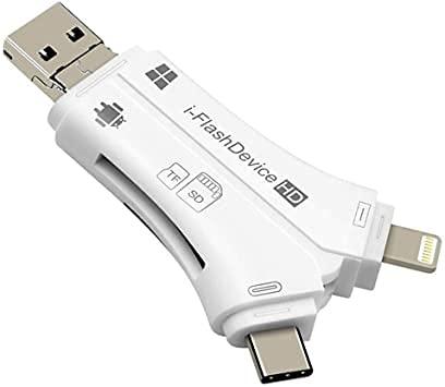 Lector de tarjetas SD, 4en 1I unidad flash USB Micro SD &...