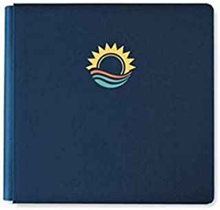 12x12 Navy Sunset & Ocean Waves Walkabout Vacation Travel Album Cover by Creative Memories