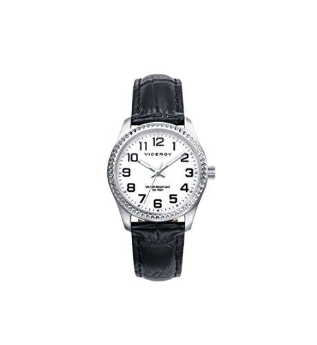 Viceroy Reloj Analógico para Niñas de Cuarzo con Correa en Cuero 40862-04