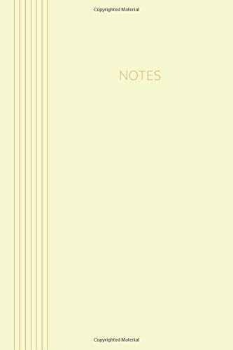 Notes: Classic Collection | 6 x 9 | 120 pages | dot grid | Softcover | colour: soft yellow-orange