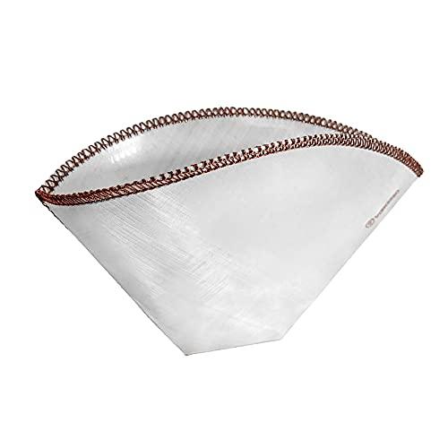 Filtro da caffè riutilizzabile in fine acciaio inox con filtro a rete per la macchina da caffè o pour--caffè filtro permanente per un vero gusto | sacchetti filtranti permanenti (1x) (taglia 4)