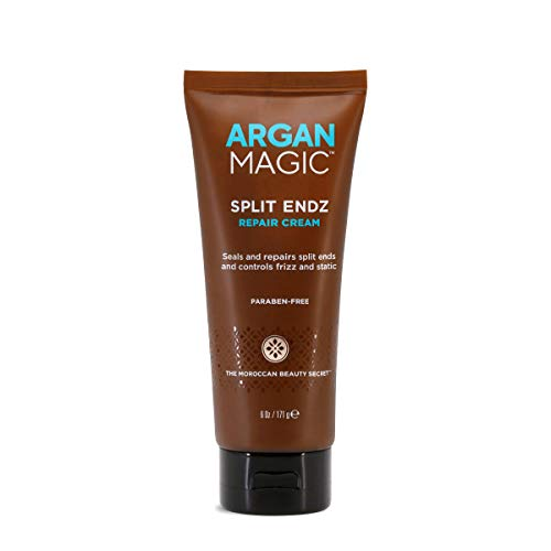 Argan Magic Split Endz Repair Cream - Instantly Binds Frayed and Separated Ends While Preventing Future Breakage | Controls Frizz | Made in USA, Paraben Free, Cruelty Free (6 oz)