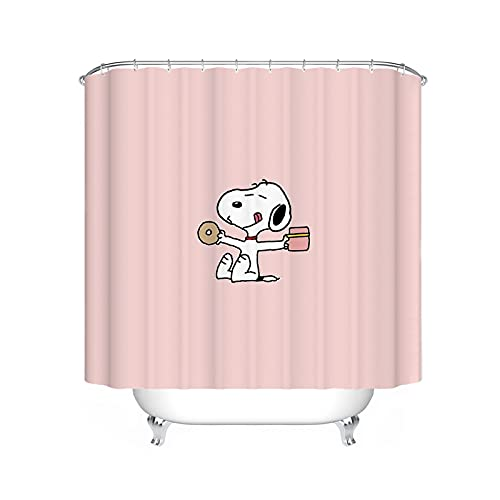 FgolphdCartoon Snoopy Duschvorhang, Anime Snoopy Bunt Shower CurtainsWasserdicht, Duschvorhang180x200180x180 Dekorieren Sie Ihr Badezimmer (120 * 200,15)