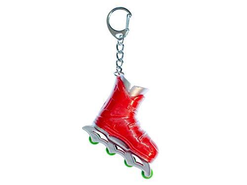 Miniblings Rollerskates Rollschuhe Inlineskates Schlüsselanhänger rot - Handmade Modeschmuck I I Anhänger Schlüsselring Schlüsselband Keyring