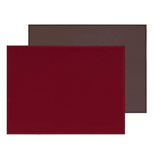 Freeform Duo rechteckig, anthrazit metallic/Burgund, Kunstleder, Maße: 40 x 30 cm Platzset, One Size