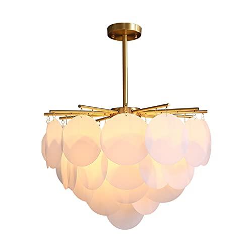 YQCH Luz posmoderna Restaurante Lámpara de Sala de Estar Decoración nórdica habitación Dormitorio lámpara Cobre iluminación araña Colgante luz