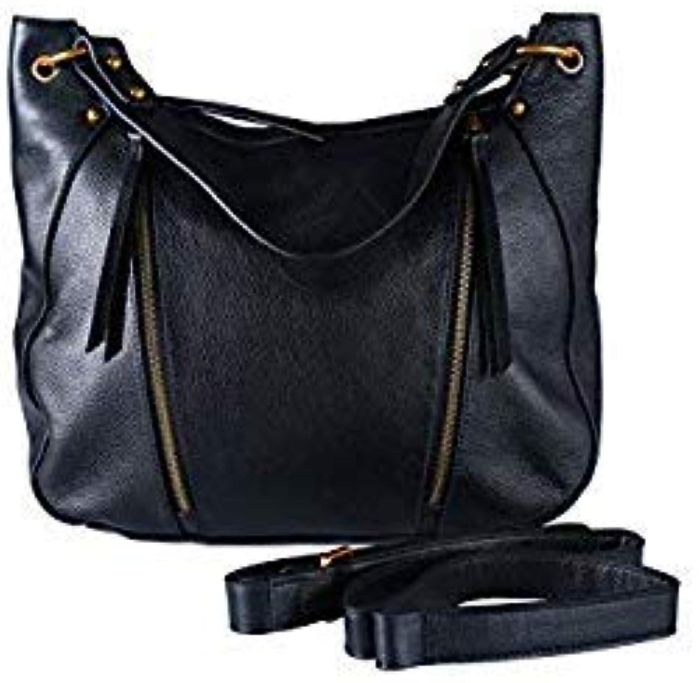 Bloomerang Vento Marea Woman Zipper Soft Black Solide color Female Hand Bag Women Bag Shoulder Genuine Leather Handbags Bolsas Femme color Black Bag