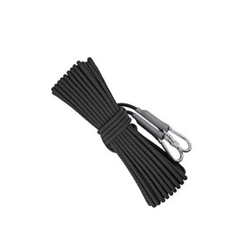 ZLWJ Outdoor Polypropylen Klettern Seil 9,5mm Tauchseil Hohe Verschleißfestigkeit Widerstandsfähig gegen Schmutzalterung lichtgewicht10m (32ft) 20m (65ft) 98 ft (30m) black-10M