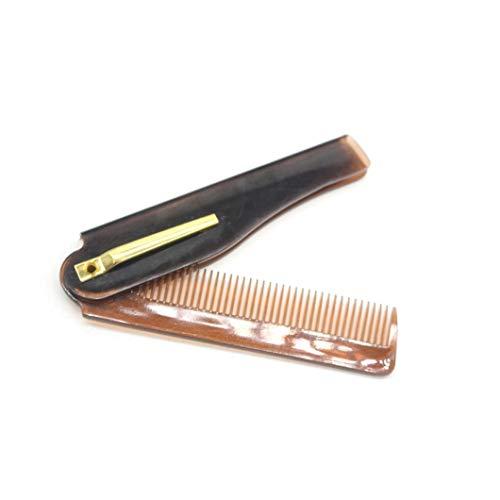 1pc Portable Peigne Voyage Pliant En Plastique Peigne Compact Poche Peigne Dents Fines Peigne Mans Styling Kit Soins Des Cheveux (Brown)