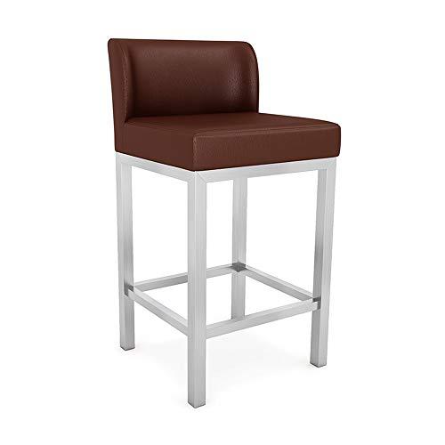Modern Café barkruk van roestvrij staal | Sieraden bril kruk speciaal voor winkels | Ontvangst kassa barstoel stoel stoel 55 cm 01-17 Een