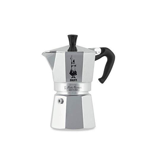 Bialetti Moka Express Espressokocher, Aluminium, Grau, 4 Tassen